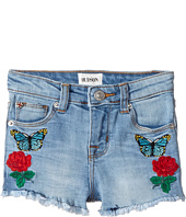 Hudson Kids - Flower Field Shorts in Faded Blue (Big Kids)