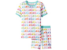 Trimfit Organic Cotton Short Sleeve Dreamwear Pajama Set (Little Kids/Big Kids)