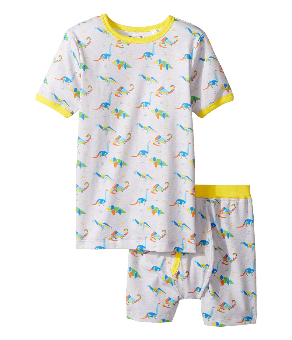 Trimfit - Organic Cotton Short Sleeve Dreamwear Pajama Set (Little Kids/Big Kids) (Geo Dinosaurs) Boys Pajama Sets