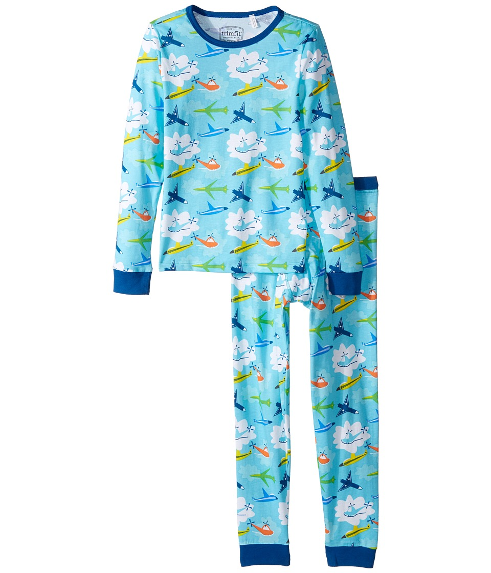 Trimfit - Organic Cotton Dreamwear Pajama Set (Little Kids/Big Kids) (Airplanes) Boys Pajama Sets