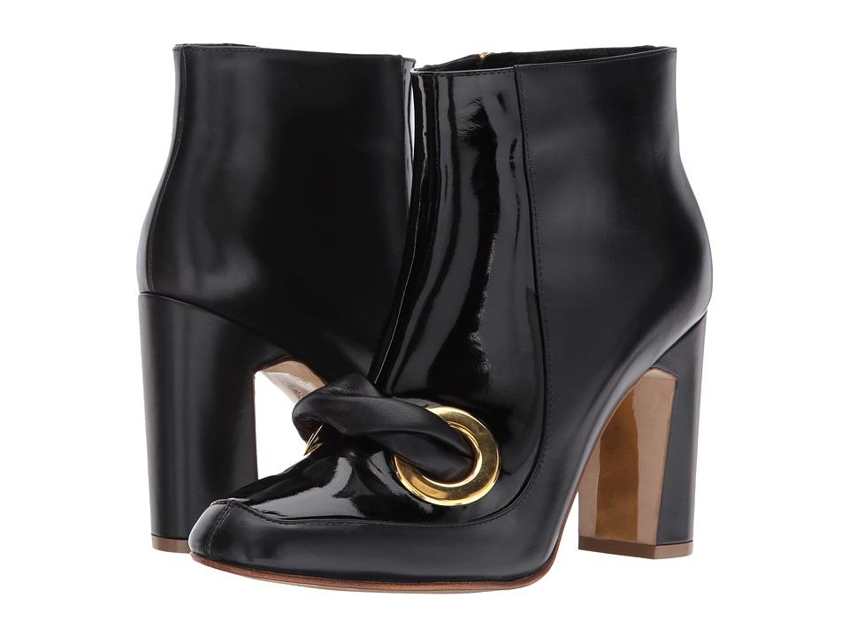Rupert Sanderson Parilla (Black Calf/Patent) High Heels