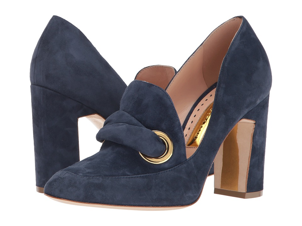 Rupert Sanderson Monique (Bluebonnet Suede) High Heels