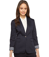 Tahari by ASL - One Button Jacket with Cuffed Sleeve