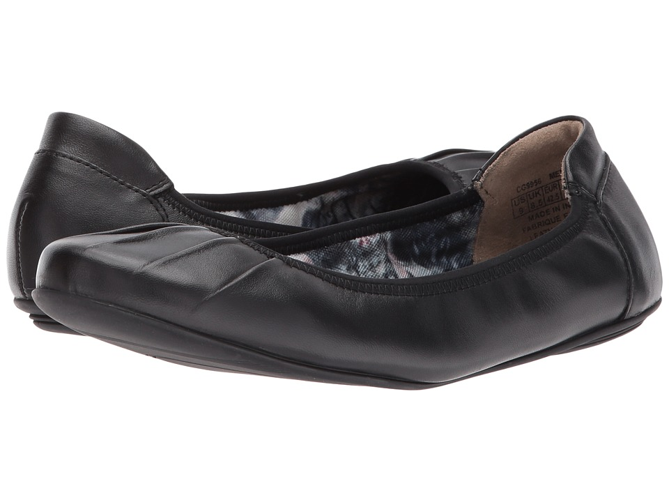 Rockport Rebecca Pleated (Black Leather) Women's Shoes