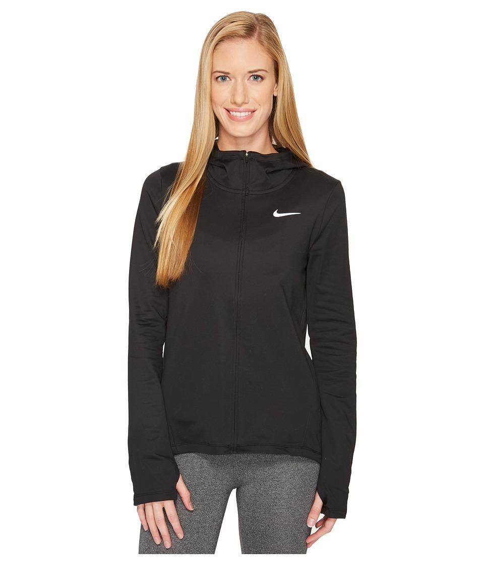 Nike Therma Full-Zip Running Hoodie (Black) Women