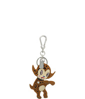 COACH - Leather Buster Le Fauve Bag Charm