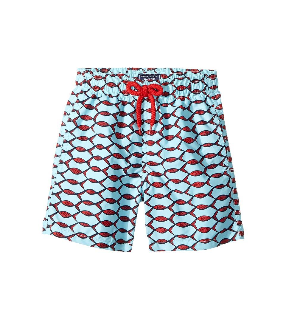 Vilebrequin Kids Fishnet Swim Trunk (Toddler/Little Kids/Big Kids) (Blue) Boy