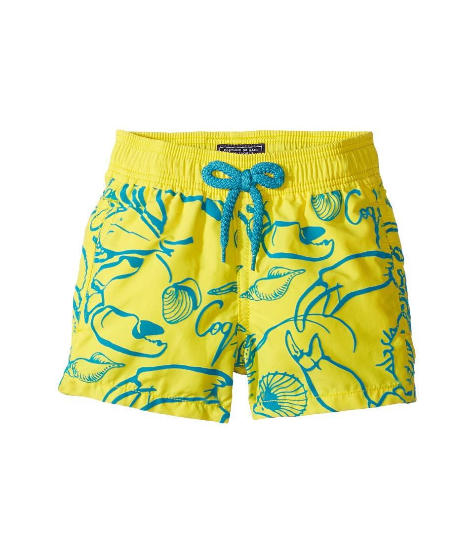 Vilebrequin Kids Flocked Shellfish Swim Trunk (Toddler/Little Kids/Big Kids) (Yellow) Boy