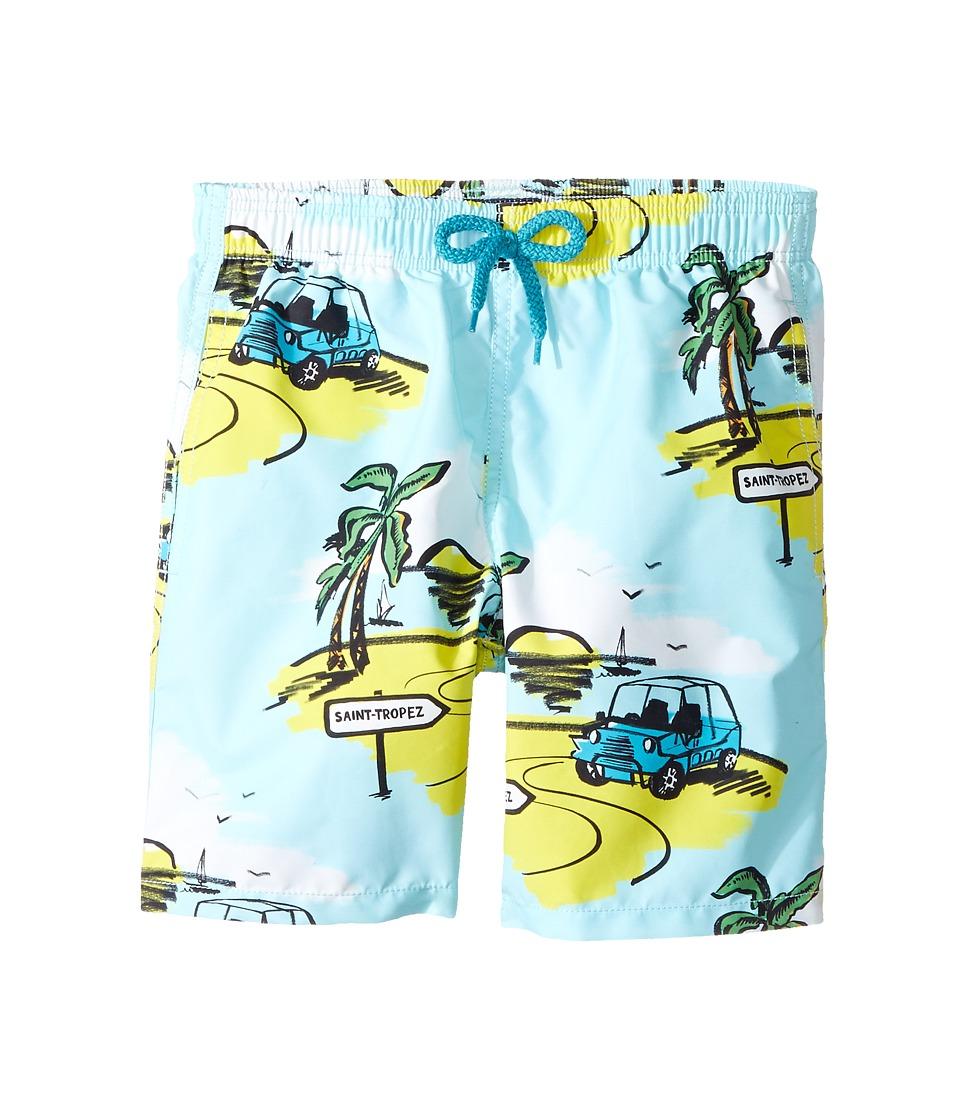 Vilebrequin Kids Mini Make Swim Trunk (Big Kids) (Blue) Boy