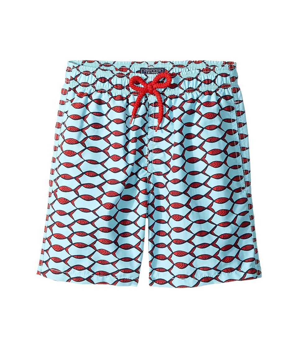 Vilebrequin Kids Fishnet Swim Trunk (Big Kids) (Blue) Boy