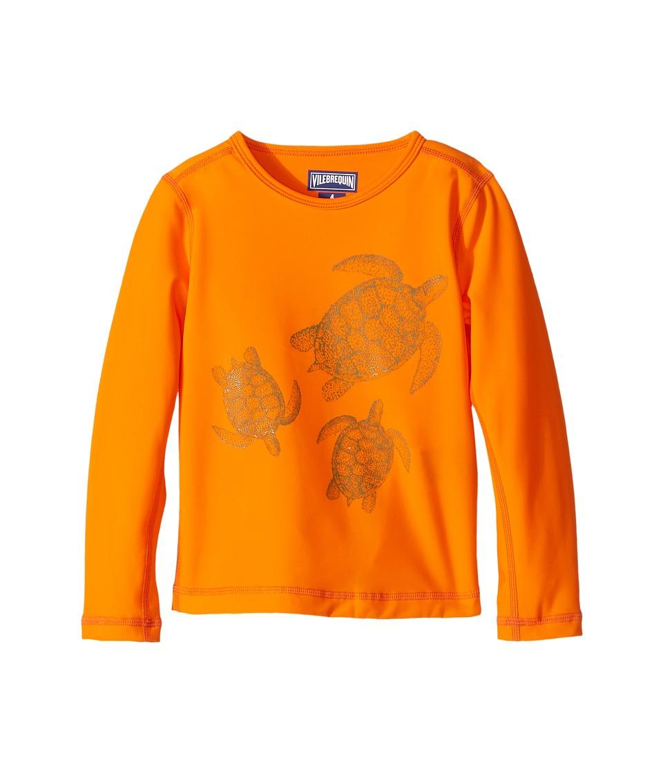 Vilebrequin Kids Sharkskin Turtle Rashguard (Toddler/Little Kids/Big Kids) (Orange) Boy