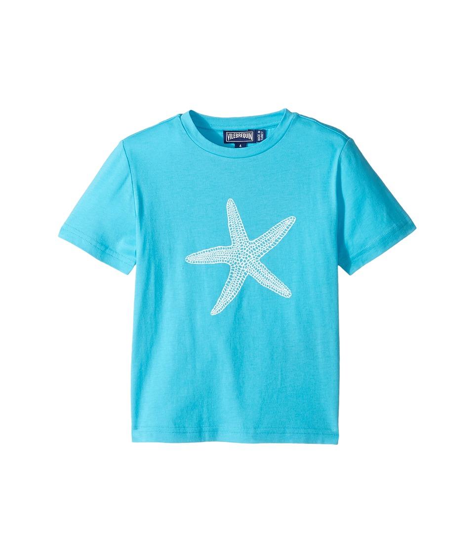 Vilebrequin Kids Glow in the Dark Starfish Tee (Toddler/Little Kids/Big Kids) (Blue) Boy