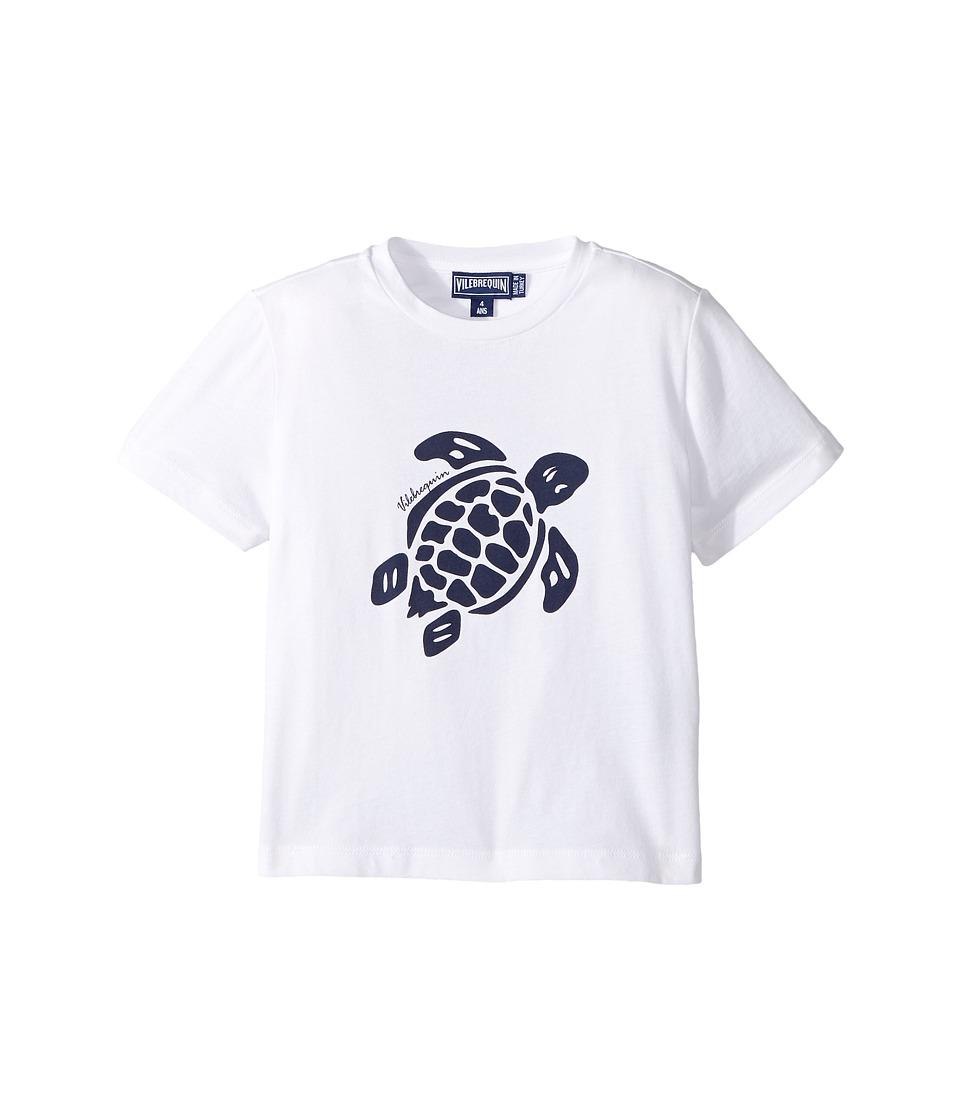 Vilebrequin Kids Turtle Print Tee (Toddler/Little Kids/Big Kids) (White) Boy