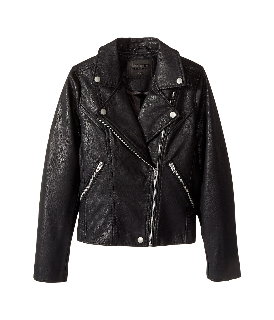 Blank NYC Kids - Vegan Leather Moto Jacket in Life Lessons