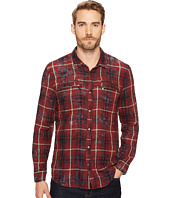 John Varvatos Star U.S.A. - Snap Front Workwear Shirt with Zip Chest Pockets W527T3B