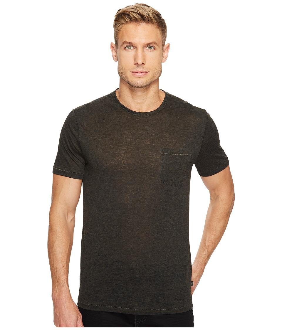 John Varvatos Star U.S.A. Short Sleeve Burnout T-Shirt (Coffee) Men