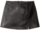 Blank NYC Kids Black Vegan Leather Mini Skirt in Break The Ice (Big Kids)