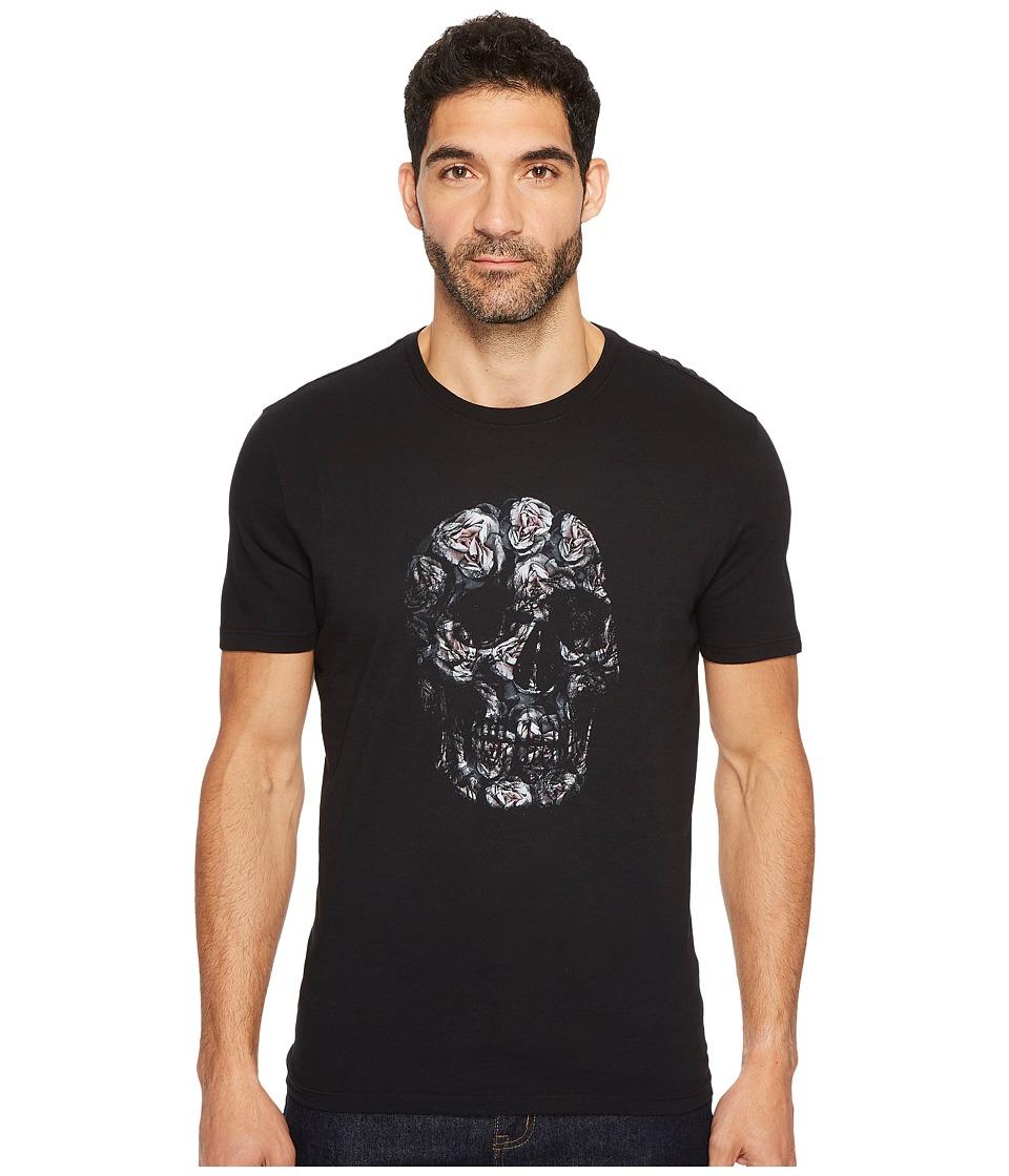 John Varvatos Star U.S.A. Floral Skull Graphic Tee K3365T3B (Black) Men