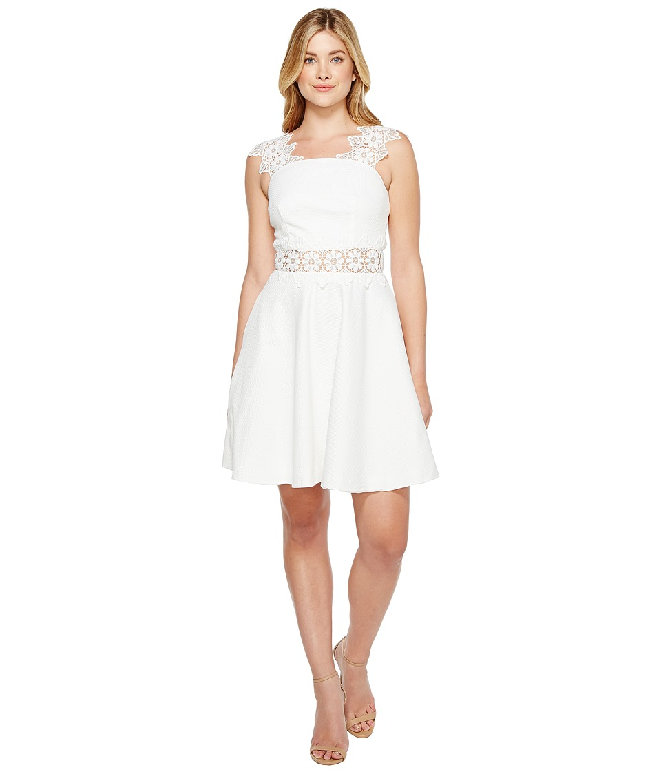 Ted Baker Monaa A-Line Shift Dress with Lace (White) Women