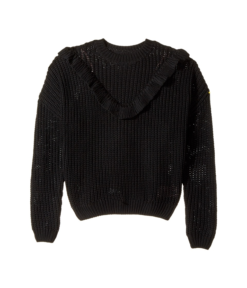 Blank NYC Kids - Ruffle Sweater in Black of Night