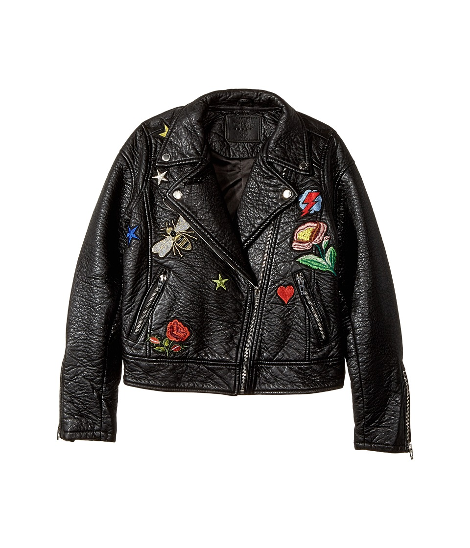 Blank NYC Kids - Patchwork Vegan Leather Moto Jacket in Mix and Match