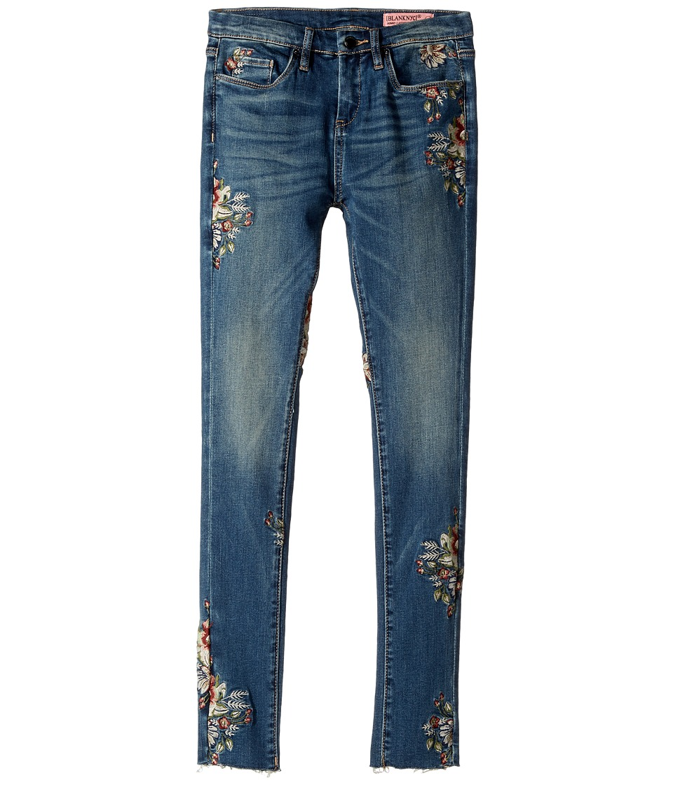 Blank NYC Kids - Denim Embroidered Skinny in Green Thumb