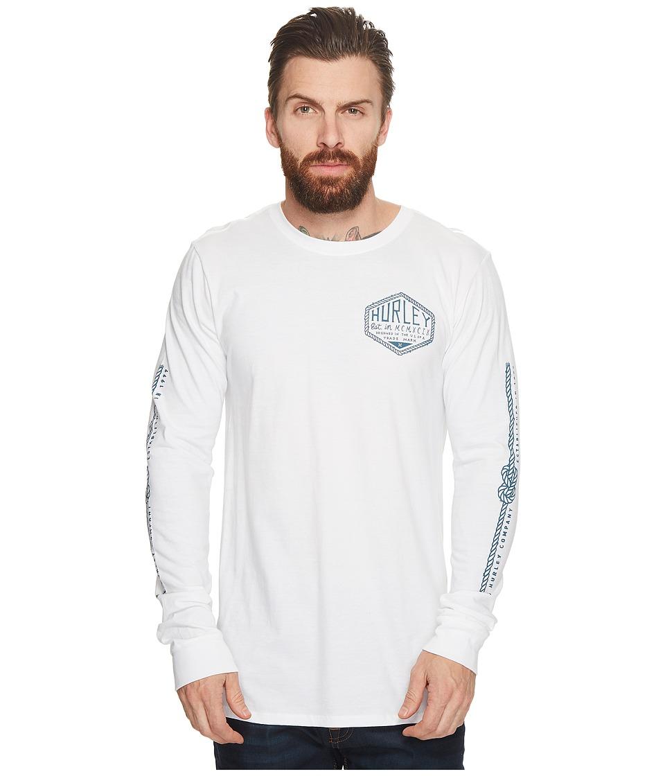 Hurley Framework Long Sleeve Tee (White) Men's T Shirt