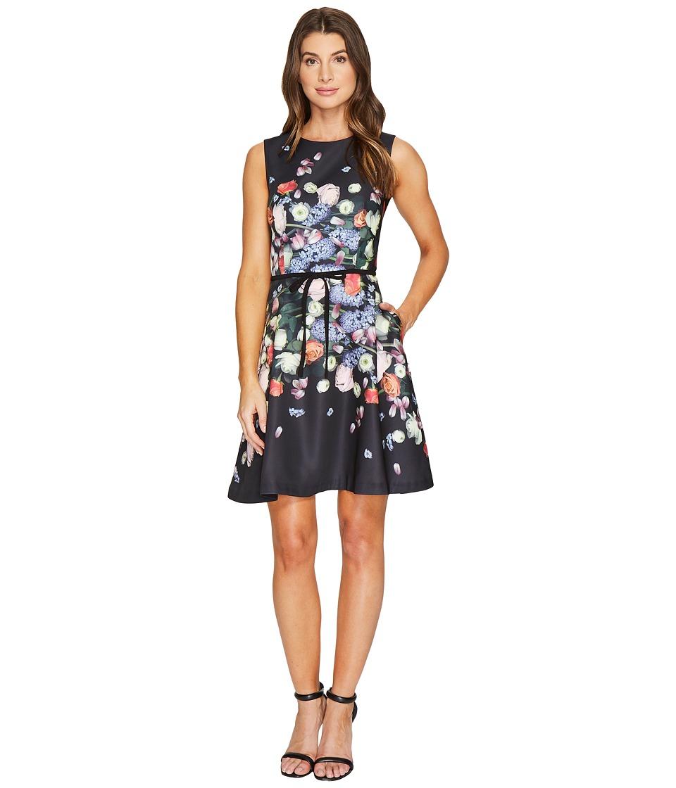 Ted Baker Izobela Kensington Floral Shift Dress (Black) Women