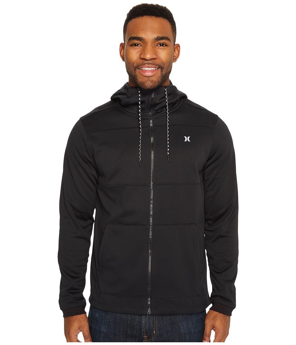 Hurley Therma Protect Zip Fleece Hoodie (Black) Men