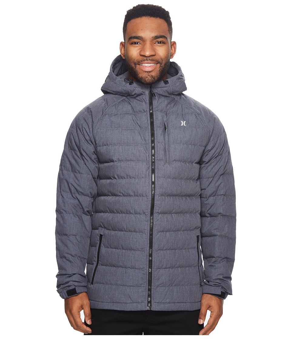 Hurley Protect Down Jacket (Heather Black) Men