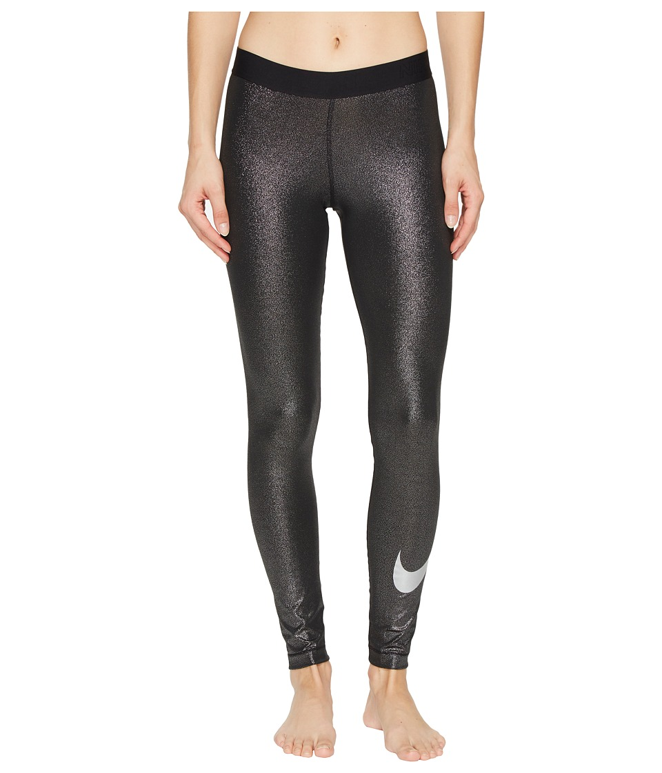 Nike Pro Cool Training Tight (Black/Metallic Silver/Metallic Silver) Women