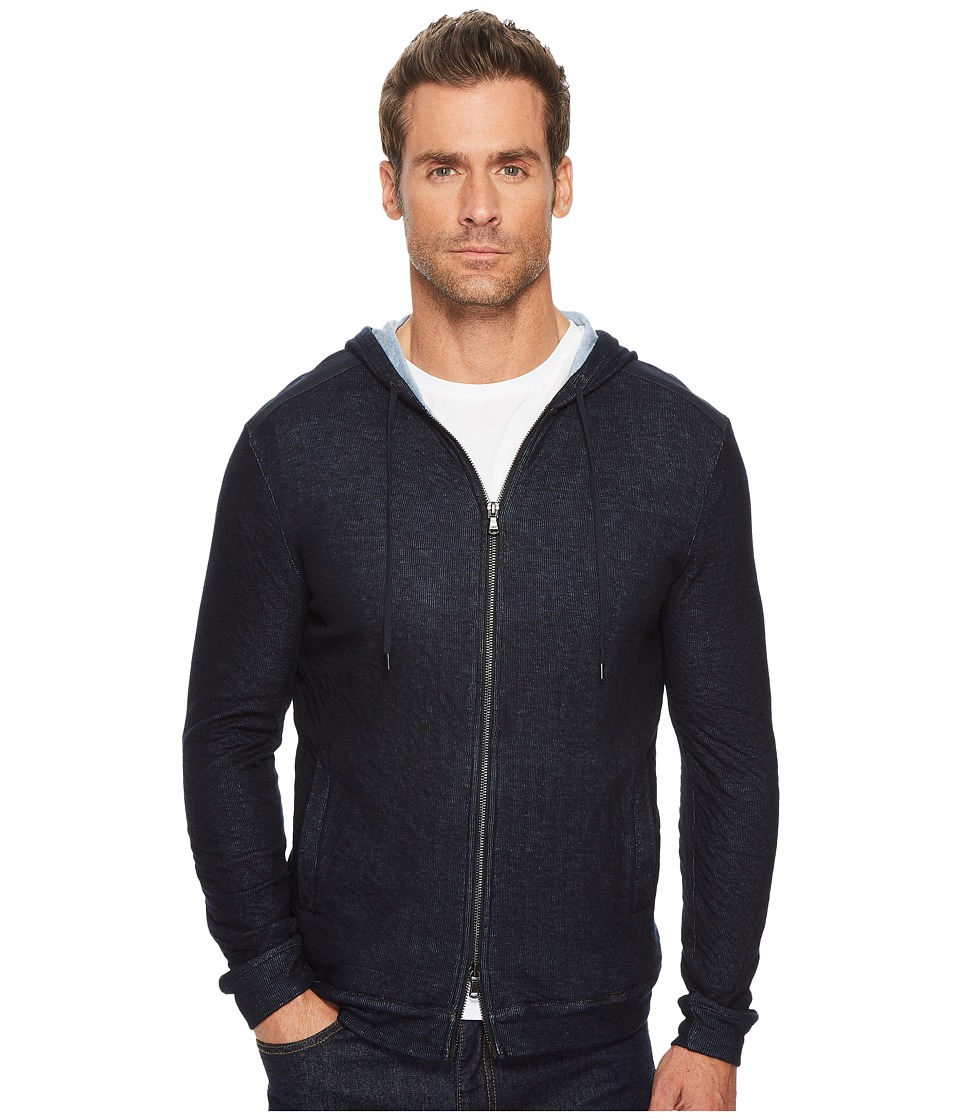 John Varvatos Star U.S.A. - Knit Hoodie In Reverse Double Face Jacquard