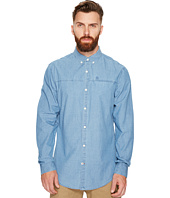 Original Penguin - Long Sleeve Washed Indigo Woven Shirt