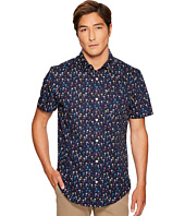 Original Penguin - Short Sleeve Mini Color Palms Stretch Poplin Shirt