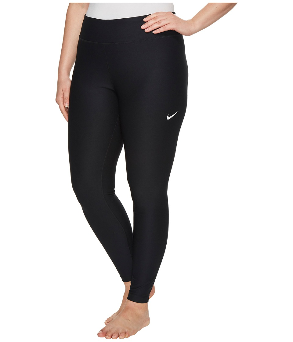 Nike Power Training Tight (Size 1X-3X) (Black/White) Women