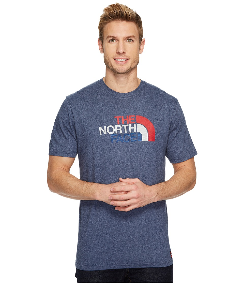 The North Face International Collection Short Sleeve Cotton Crew Top (Cosmic Blue Heather) Men