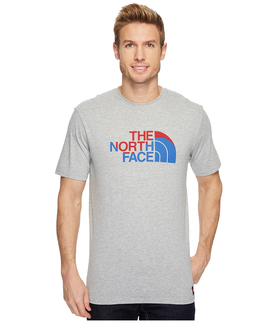 The North Face International Collection Short Sleeve Cotton Crew Top (TNF Light Grey Heather) Men