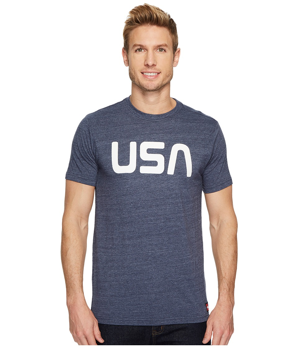 The North Face International Collection Tri-Blend Tee (Cosmic Blue Heather) Men