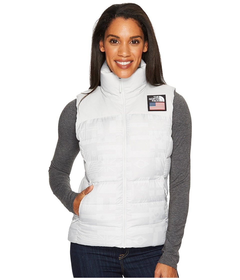The North Face International Collection Nuptse Vest (Vaporous Grey Flag Print) Women
