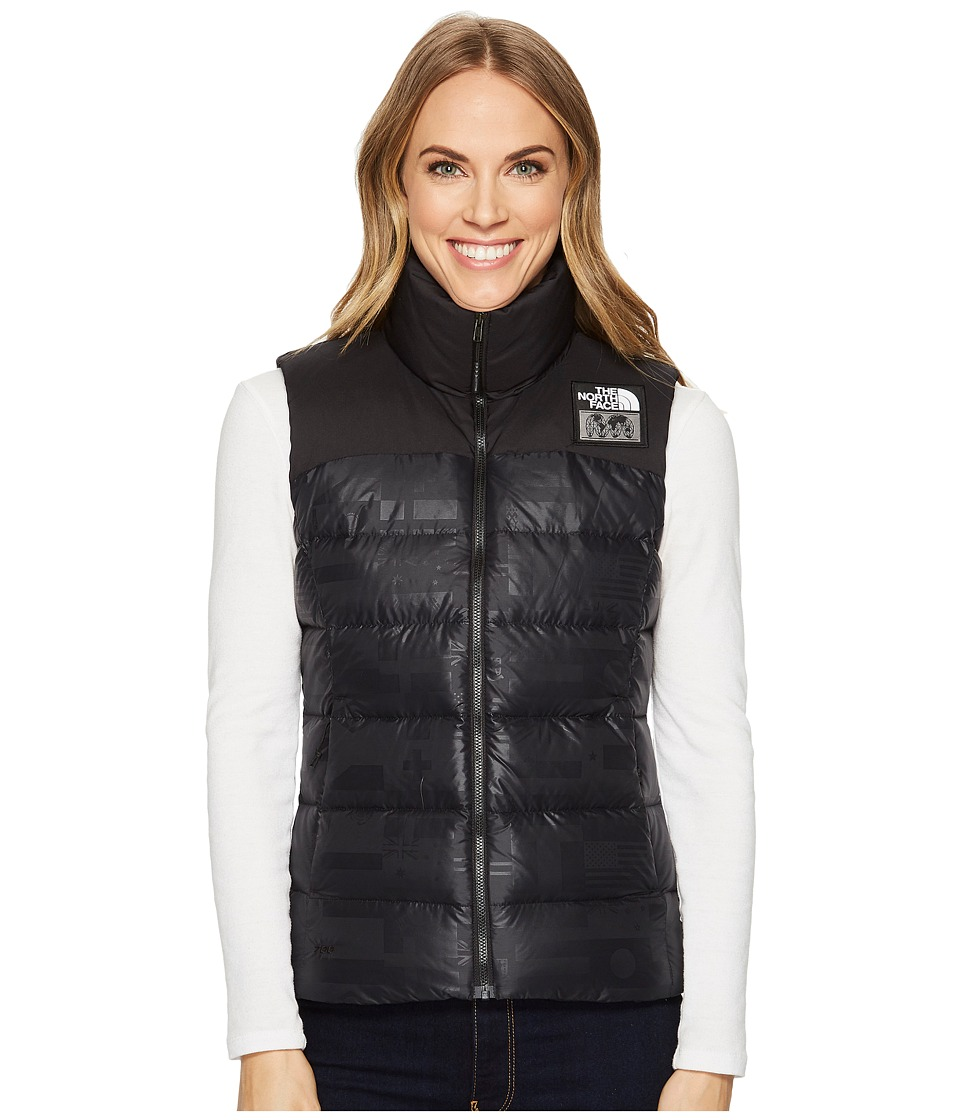 The North Face International Collection Nuptse Vest (TNF Black Flag Print) Women