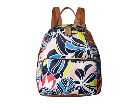 TOMMY HILFIGER Julia Dome Retro Floral Nylon Backpack ...