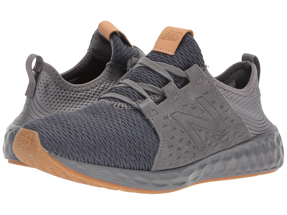 New Balance Kids KJCRZv1G (Big Kid) (Grey/Gum) Boys Shoes