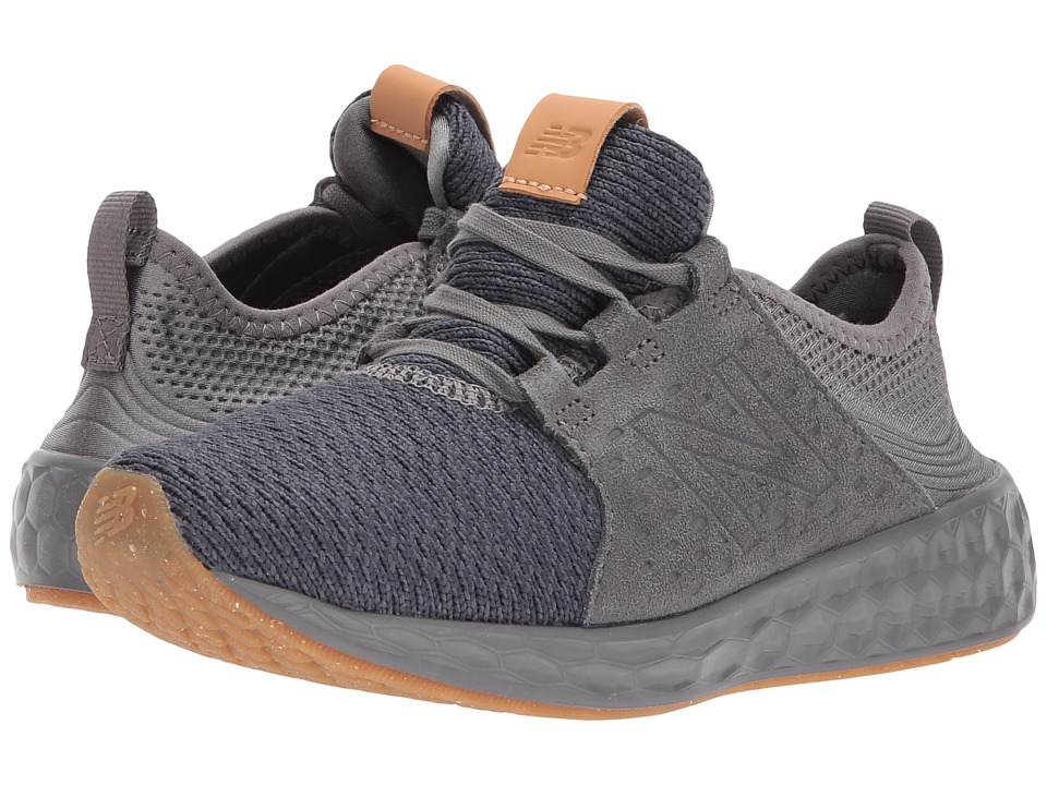 New Balance Kids KJCRZv1P (Little Kid) (Grey/Gum) Boys Shoes