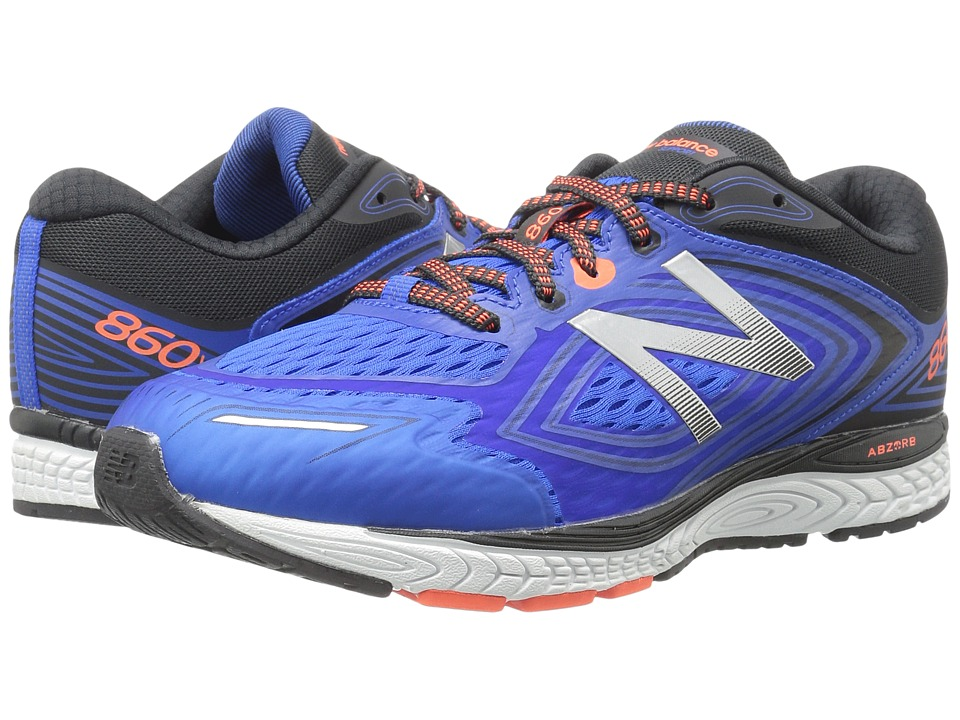 New Balance Kids KJ860v8Y (Little Kid/Big Kid) (Navy/Grey) Boys Shoes
