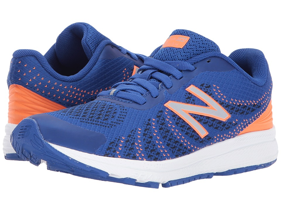 New Balance Kids KJRUSv3P (Little Kid) (Blue/Orange) Boys Shoes