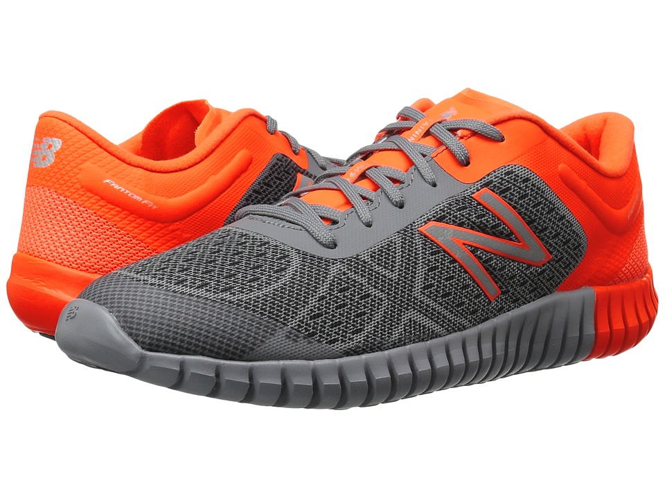 New Balance Kids KXM99v2Y (Little Kid/Big Kid) (Grey/Orange) Boys Shoes