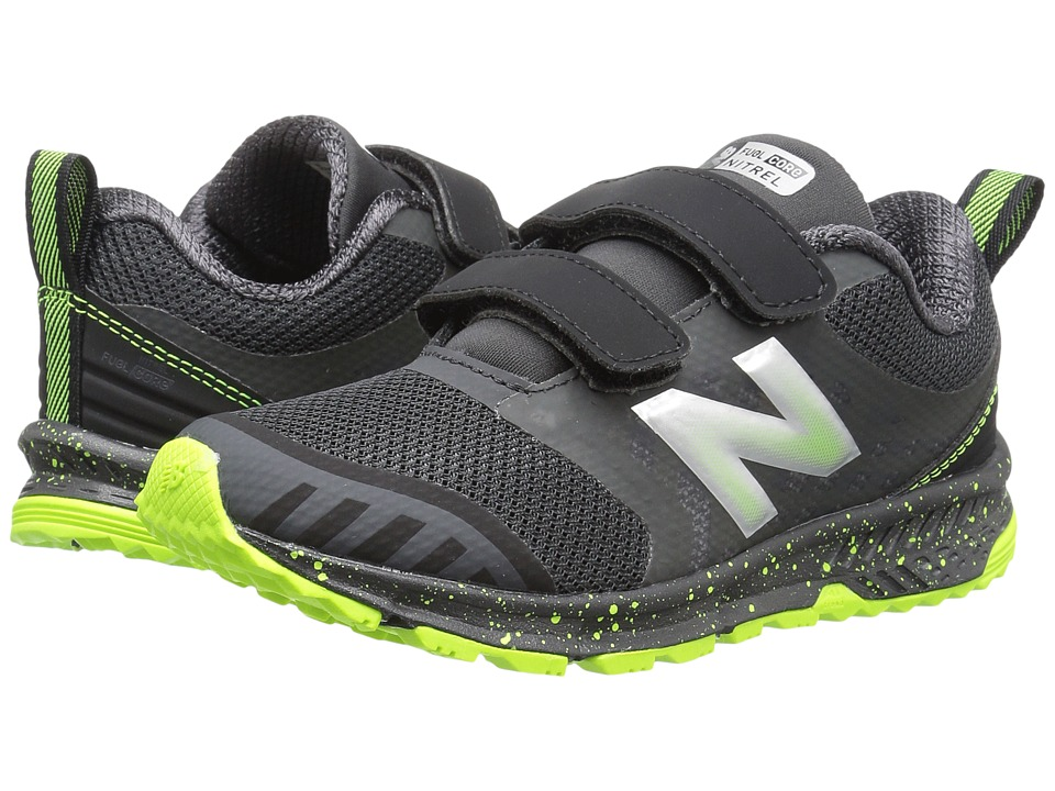 New Balance Kids KENTRv3Y (Little Kid/Big Kid) (Grey/Black) Boys Shoes