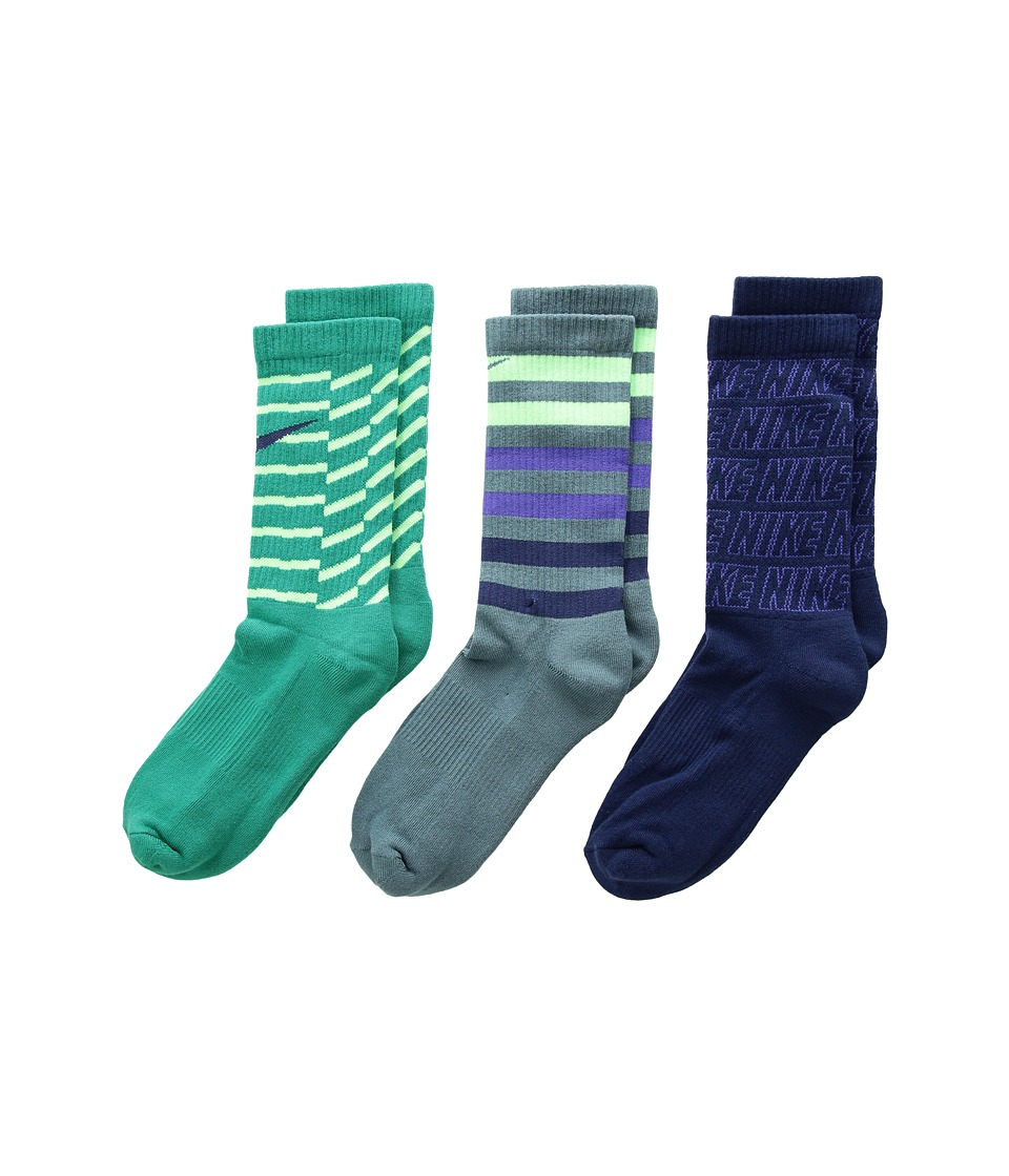 Nike Kids - Performance Cushion Crew 3-Pair Socks (Little Kid/Big Kid) (Multicolor 6) Boys Shoes