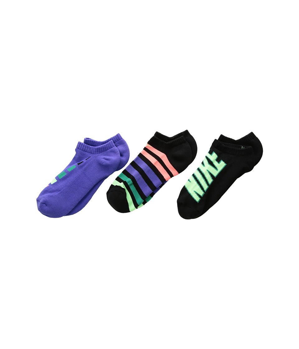 Nike Kids Performance Cushion No Show 3-Pair Socks (Little Kid/Big Kid) (Multicolor 1) Boys Shoes