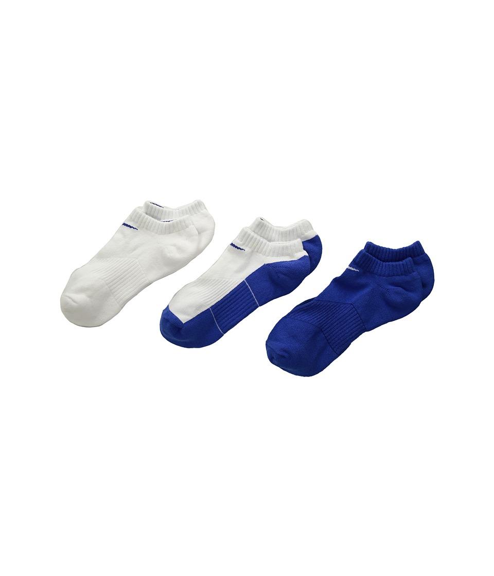 Nike Kids - Cotton Cushion No Show Socks w/ Moisture Management 3-Pair Pack (Little Kid/Big Kid) (Multicolor 1) Kids Shoes
